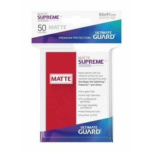 Ultimate Guard Supreme UX Sleeves Standard Size Matte Red (50)