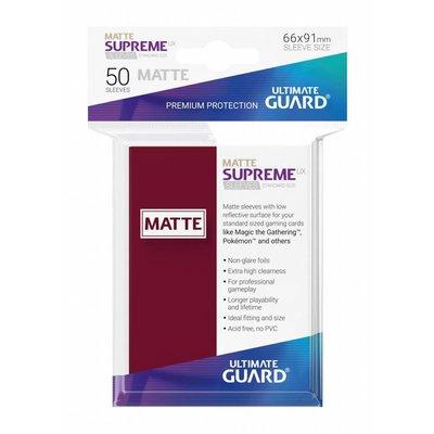 Ultimate Guard Supreme UX Sleeves Standard Size Matte Burgundy (50)