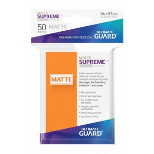 Ultimate Guard Supreme UX Sleeves Standard Size Matte Orange (50)