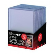 "Ultra Pro 3"" x 4"" Thick 75PT Toploader (25 Pieces)"