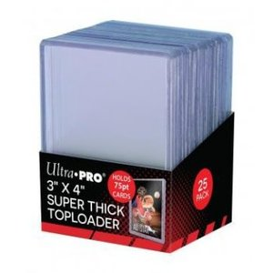 """Ultra Pro 3"""" x 4"""" Thick 75PT Toploader (25 Pieces)"""
