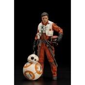 Star Wars Kotobukiya Poe Dameron & BB-8 ARTFX+ 2-Pack 1/10 Scale Statue 18 / 7cm