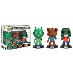 Funko POP! Star Wars - Greedo, Hammerhead, Walrus Man Vinyl Figures 10cm 3-pack NYCC-2017 Convention Exclusives