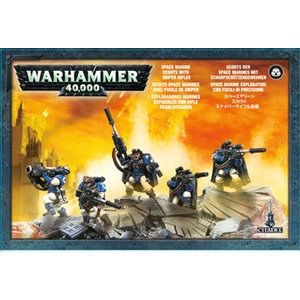 Games Workshop Space Marine Scouts With Sniper Rifles