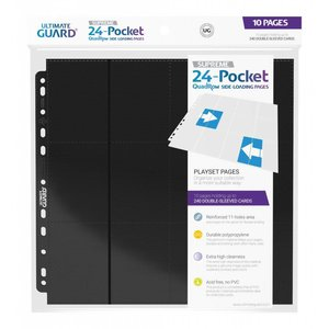 Ultimate Guard 24-Pocket QuadRow Pages Side-Loading Black (10)