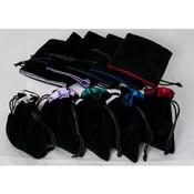 Blackfire Velvet Dice Bags 10x12cm with Satin Lining & No Logo