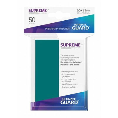 Ultimate Guard Supreme UX Sleeves Standard Size Petrol Blue (50)