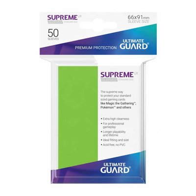 Ultimate Guard Supreme Sleeves Standard Size Light Green (50)
