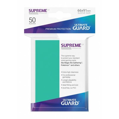 Ultimate Guard Supreme UX Sleeves Standard Size Turquoise (50)