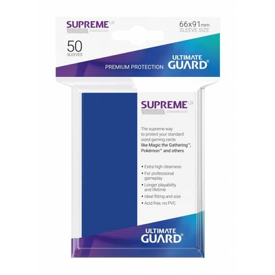 Ultimate Guard Supreme UX Sleeves Standard Size Blue (50)