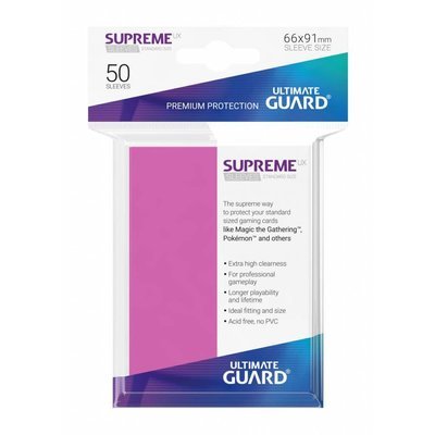 Ultimate Guard Supreme UX Sleeves Standard Size Pink (50)