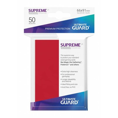 Ultimate Guard Supreme UX Sleeves Standard Size Red (50)