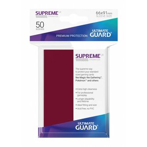 Ultimate Guard Supreme UX Sleeves Standard Size Burgundy (50)