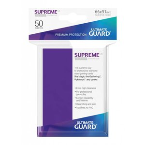Ultimate Guard Supreme UX Sleeves Standard Size Purple (50)