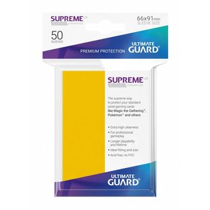 Ultimate Guard Supreme UX Sleeves Standard Size Yellow (50)