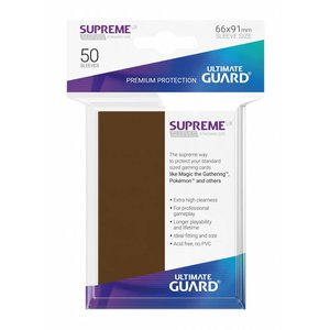 Ultimate Guard Supreme UX Sleeves Standard Size Brown (50)