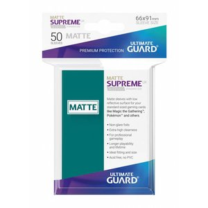 Ultimate Guard Supreme UX Sleeves Standard Size Matte Petrol Blue (50)