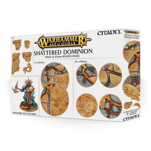 Games Workshop Shattered Dominion 40 & 65mm Round Bases
