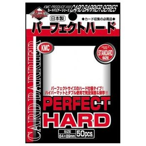 KMC KMC Standard Sleeves - Perfect Hard (50 Sleeves)
