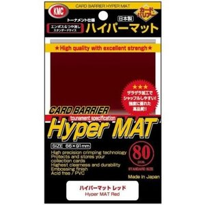 KMC Standard Sleeves - Hyper Mat Red (80 Sleeves)