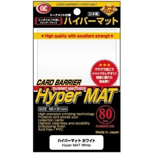 KMC Standard Sleeves - Hyper Mat White (80 Sleeves)