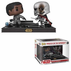 Funko POP! Star Wars POP! Movie Moments Vinyl Bobble-Head 2-Pack Finn vs Captain Phasma 9 cm
