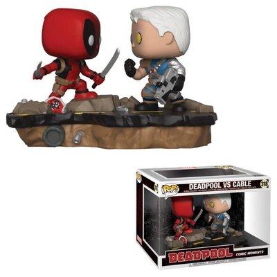 Funko POP! Deadpool POP! Movie Moments Vinyl Bobble-Head 2-Pack Deadpool vs. Cable 9 cm