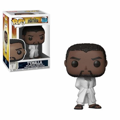 Funko POP! Black Panther POP! Vinyl Bobble-Head Black Panther T'Challa Robe (White) 9 cm