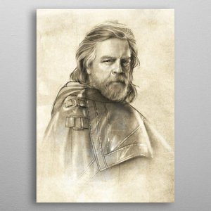 Star Wars Star Wars Metal Poster Last Jedi Sketches Luke Skywalker 32 x 45 cm