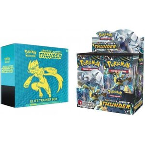 Pokemon TCG SET Sun & Moon 8: Lost Thunder - Elite Trainer Box & Booster Box