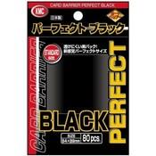 KMC KMC Standard Sleeves - Perfect Black (80 Sleeves)