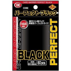 KMC KMC Standard Sleeves - Perfect Black (80 Sleeves)