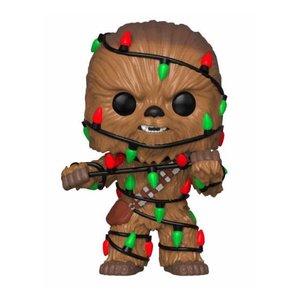 Funko POP! Star Wars POP! Vinyl Bobble-Head Holiday Chewbacca with Lights 9 cm