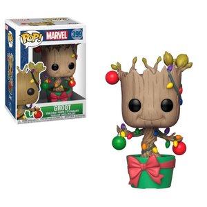 Funko POP! Marvel Comics POP! Marvel Holiday Vinyl Bobble-Head Groot (Lights & Ornaments) 9 cm