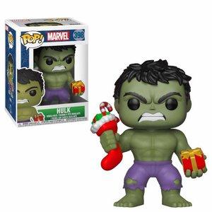 Funko POP! Marvel Comics POP! Marvel Holiday Vinyl Bobble-Head Hulk (Stocking & Plush) 9 cm