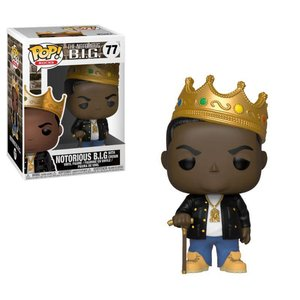 Funko POP! Notorious B.I.G. POP! Rocks Vinyl Figure Notorious B.I.G. with Crown 9 cm