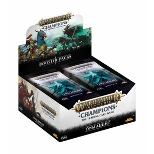Games Workshop Warhammer Age of Sigmar: Champions Wave 2: Onslaught Booster Display