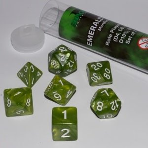 Blackfire Dice 16mm Role Playing Dice Set - Emerald Green (7 Dice)