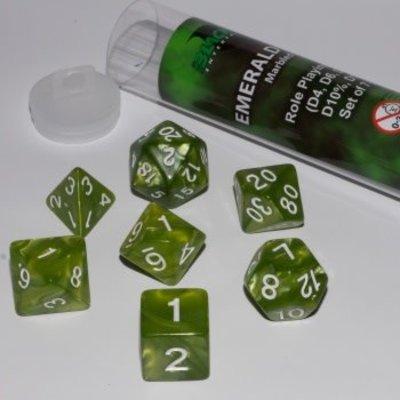 Blackfire Dice 16mm Role Playing Dice Set - Emerald Green (7 Dice)