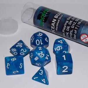 Blackfire Dice 16mm Role Playing Dice Set - Ocean Blue (7 Dice)
