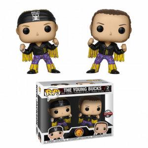 Funko POP! WWE: Bullet Club Young Bucks Vinyl Figures 10cm Limited