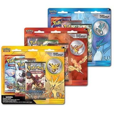 Pokemon TCG SET van 3 Legendary Beasts Collectors Pin 3 Pack