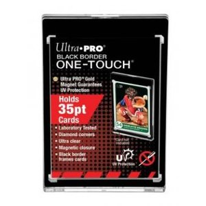 Ultra Pro 35PT Black Border UV One-Touch Magnetic Holder