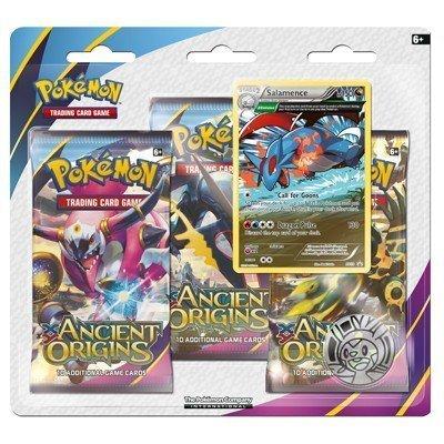 Pokemon TCG SET Ancient Origins XY7 3-Booster Blisters - Malamar & Salamence