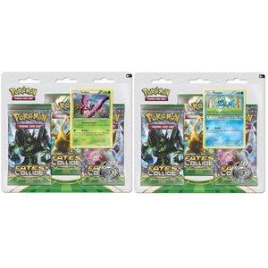 Pokemon TCG SET Fates Collide XY10 3-Booster Blisters  - Vivillon & Froakie