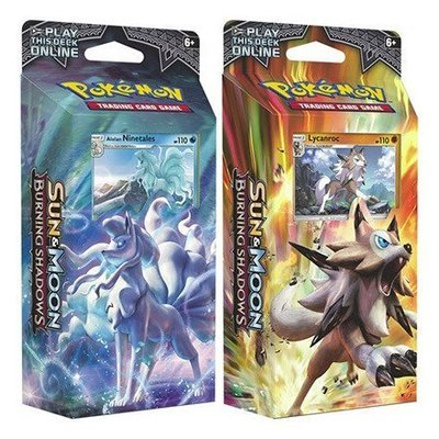 Pokemon TCG Set van 2 Burning Shadows Theme Decks