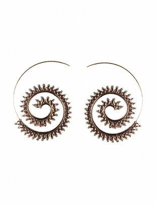 Spiral Earrings Dots