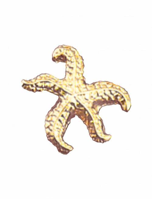 Stud Oorbellen Starfish (per stuk)