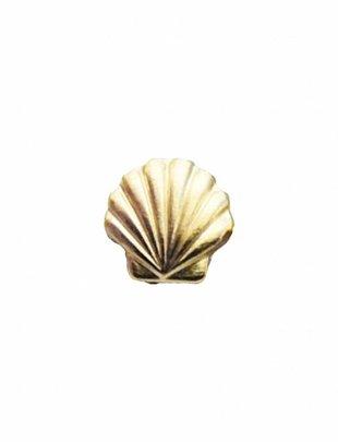 Stud Earrings Fan Shell Gold (a piece)