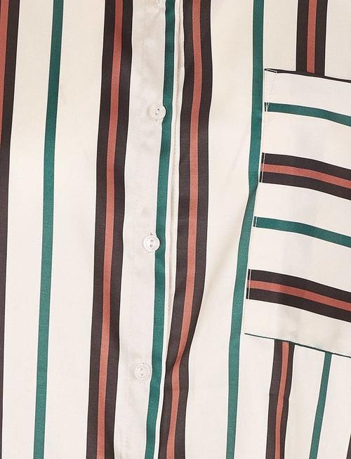 Grace & Mila Revolution Striped Blouse - Beige